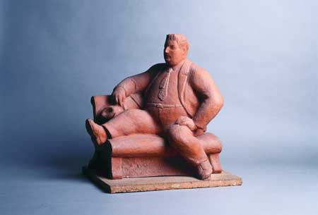 Han Wezelaar, Fat man, terracotta, 1955. Arnhem, Museum of Modern Art (MMKA)